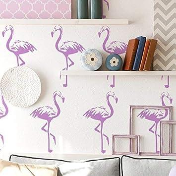 ideal Stencils LTD halb geschliffen Durchsichtig Schablone Farbe W/ände Stoffe /& M/öbel Flamingo Muster Dekor Kunst bastelarbeiten Flamingos Home Dekorieren au/ßenschablone XS//10X18CM