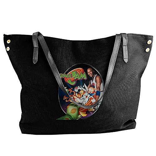 Space Jam Fantasy/Science Fiction Film Women's Shoulder Bags Casual Handbag Travel Bag Messenger Canvas (Space Jam Costumes)