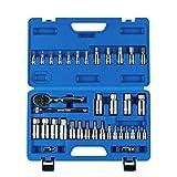 MESGS 36 Piece Master Hex Bit Socket Set, S2 Steel