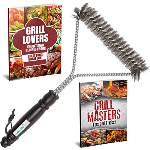 Grill Lovers Grill Brush with Stainless Steel Bristles and Ergonomic Handle