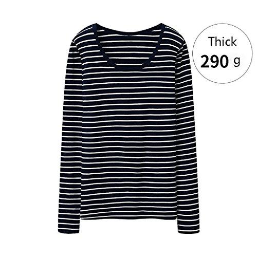 Manga Gruesa C Rayas Camiseta Mujer Shop Shi Li C Blusa De Xiang Tamaño Larga color Xxl ZwxqFwUY0a