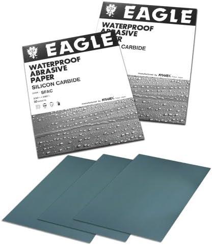 Grit P2000-50 shts//sleeve Eagle 102-2000 9x11 Silicon Carbide Flexible-Back Waterproof Sheets