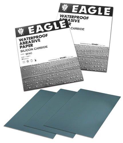 Eagle 102-2000 - 9x11 Silicon Carbide Flexible-Back Waterproof Sheets - Grit P2000 - 50 shts/sleeve