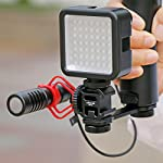 Ulanzi PT-3 Triple Cold Shoe Mounts Plate Microphone Extension Bar Bracket Stand Gimbal Accessories Compatible for Zhiyun Smooth 4/DJI OSMO Mobile 2/Feiyu Vimble 2 3