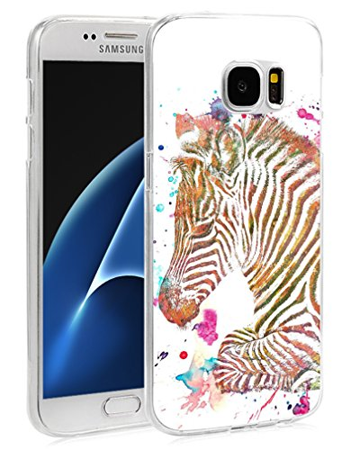 (S6 Case Zerba - Case for Galaxy S6 - Protector Cover Compatible for Samsung S6 - Colorful Beautiful Little Zebra Animal Print (Slim Flexible TPU Protective Silicone))