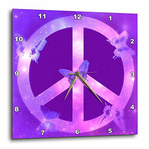 Universe Peace Sign Purple Butterflies Inspirational Wall