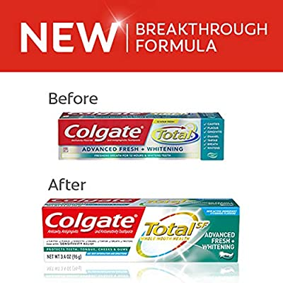 Colgate Total Advanced Fresh + Whitening Gel Toothpaste, 4 Count