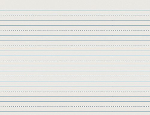 School Smart Skip-A-Line Ruled Writing Paper, 3/4 Inch Ruled Long Way, 10-1/2 x 8 Inches, Pack of 500