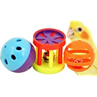 1195 Bonka Bird Toys Play 3 Foot Toys Ball Cockatiel Parakeet Toys cage Parrot cat Conure
