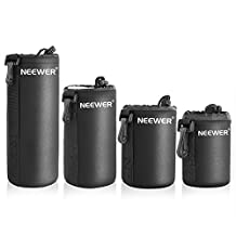 Neewer® 4 Size DSLR Camera Drawstring Lens Pouch Bag Cover size S M L XL for Sony, Canon, Nikon, Pentax, Olympus, Panasonic Lens
