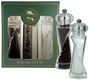 Chef Specialties 7.5 Inch Ellipse Pepper Mill and Salt Mill Gift Set