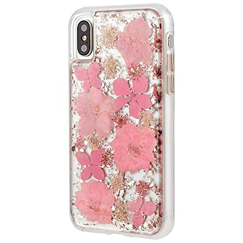 iPhone Xs Max Case, MAGGICWEI-DL - Karat Petals - Made Real Flowers - Slim Protective Design - Apple iPhone Xs Max (Pink Petals, iPhone Xs Max) ()