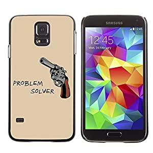 Colorful Printed Hard Protective Back Case Cover Shell Skin for Samsung Galaxy S5 V SM-G900 ( Funny Gun Poster ) Kimberly Kurzendoerfer
