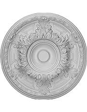 Ekena Millwork 19-Inch OD x 6-Inch ID x 1 1/2-Inch P Granada Ceiling Medallion