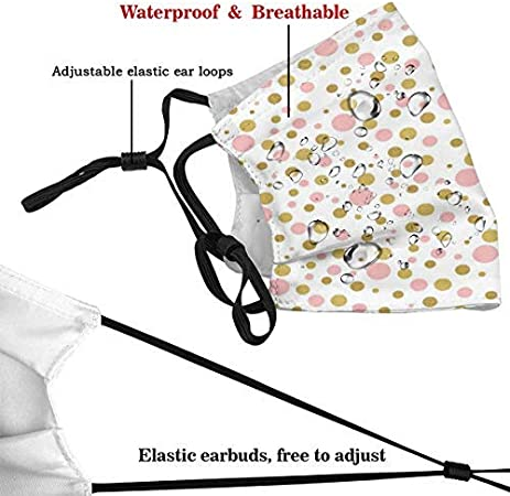 YZBEDSET Blemishes in Small Big and Medium Sizes Golden Yellow Tone Dust Washable Reusable Filter and Reusable Mouth Warm Windproof Cotton Face