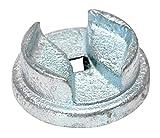 Vestil BUNG-S-S2 Bright Zinc Plated Cast Steel Drum Bung Socket, 1/2'' Drive Size