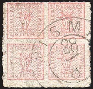 Goldhahn Mecklenburg-Schwerin Nr. 4 gestempelt Briefmarken für Sammler