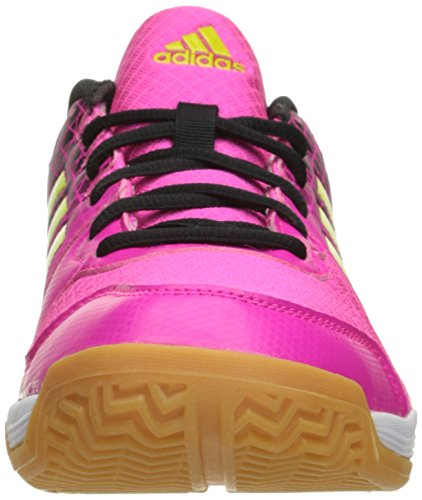 fa79aedb7bd1 adidas Performance Women s Ligra 4 W Volleyball Shoe Shock Pink Semi Solar  Slime Black 8 B(M) US  Amazon.in  Shoes   Handbags