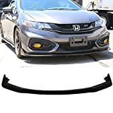 Front Bumper Lip Fits 2014-2015 Honda Civic | CS2 Style Black PU Front Lip Finisher Under Chin Spoiler Add On by IKON MOTORSPORTS