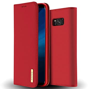 b4c55e51a3c0 Radoo Galaxy S8 Plus Genuine Leather Case, Luxury Genuine Leather Ultra  Slim Style Wallet Cover