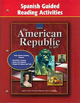 american republic to 1877 spanish guided reading activities mcgraw rh amazon com guided reading activity 1 the american republic to 1877 Guided Reading Activity 10 1