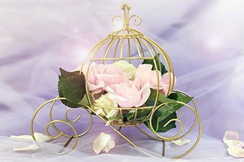 Ohah 12' x 7' x 12' Gold Cinderella Pumpkin Carriage Wedding Wire Centerpiece