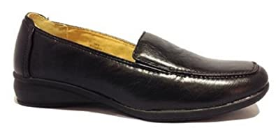 1200bb114da Image Unavailable. Image not available for. Colour  Dr Keller Sal Black  Ladies Loafers Wide Fit Slip On Work Shoes (UK ...