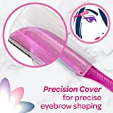 Silk Touch-Up Multipurpose Exfoliating Dermaplaning Tool, Eyebrow Razor, and Facial Razor with Precision Cover, 3 Count