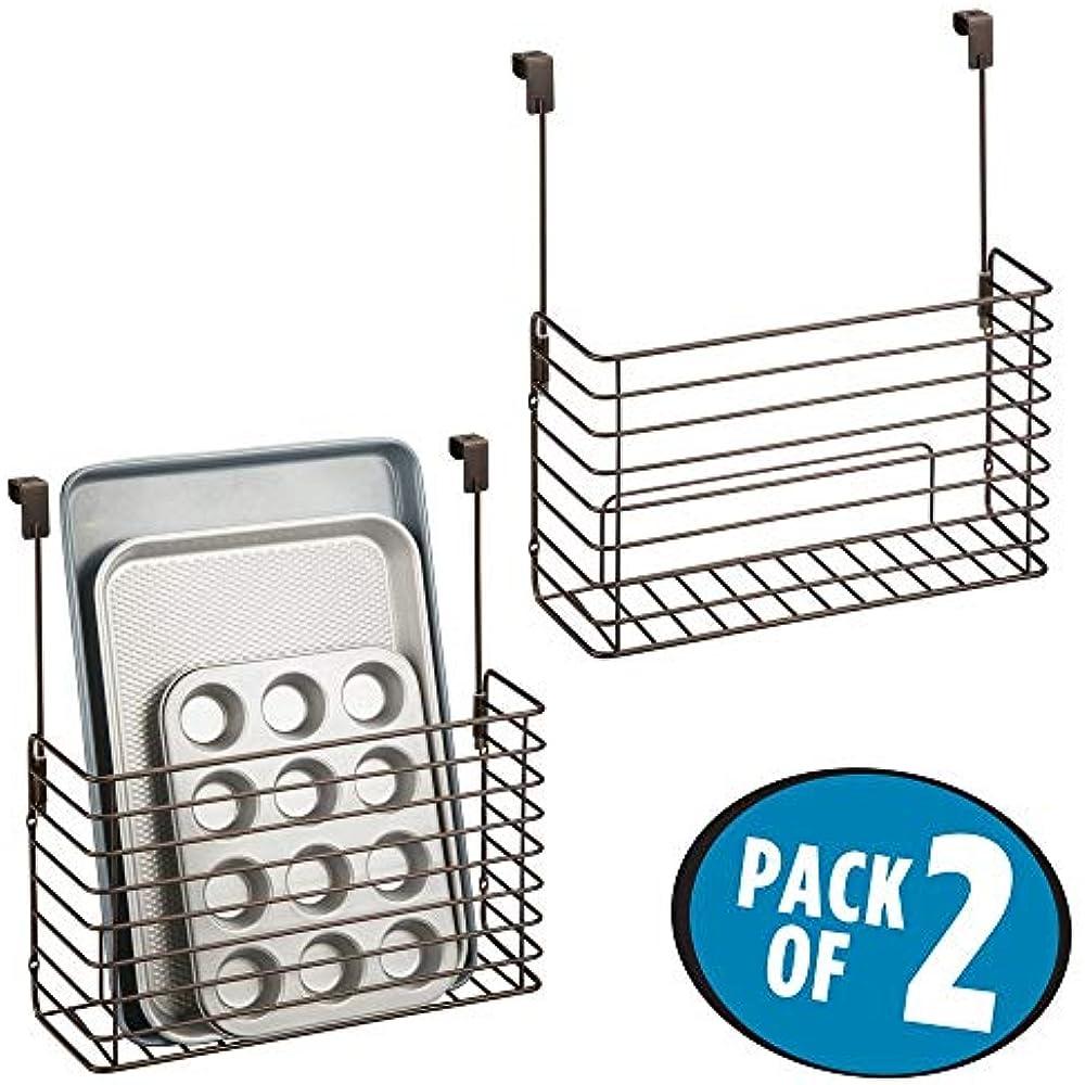MDesign Metal Over Cabinet Kitchen Storage Organizer ...