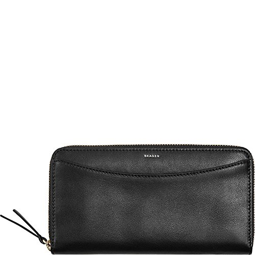 Continental Leather Zip Wallet - Black Wallet, black, One Size (Wallet Zip Leather Continental)