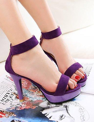 ShangYi Women's Shoes Cone Heel Slingback/Comfort Sandals Outdoor/Office & Career/Dress/Casual Black/Purple/Red Black 1K6fK