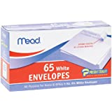 Mead Press-It Seal-It #6 3/4 White Envelopes, 65 Count (75028)