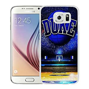 Fashionable And Unique Designed Case For Samsung Galaxy S6 Phone Case With duke basketball White