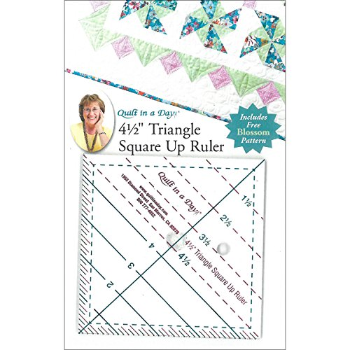 Quilt In A Day Triangle Square Up Ruler, 4.5