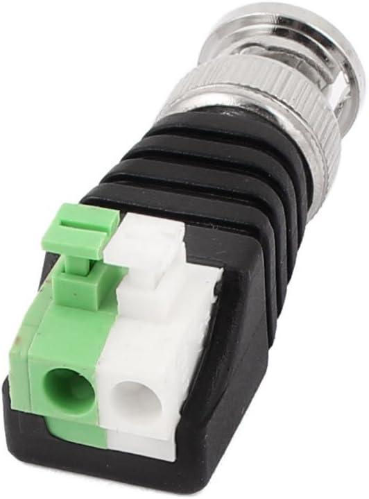 BNC Fiche m/âle /à 2 p/ôles de borne Ressort Bloc AV Balum Connecteur