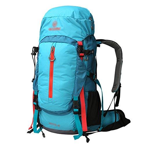 HWLXBB Outdoor Bergsteigen Tasche Männlich Und Weiblich 45L Wasserdichtes Licht Mehrzweck-Bergsteigen Tasche Wanderung Berg Bergsteigen Rucksack ( Farbe : 1* )