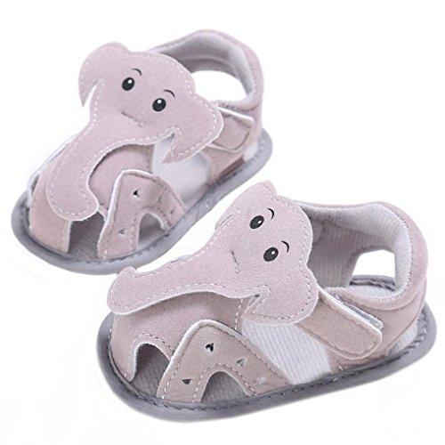 Teddy Bear Knit Pattern (Kenvenz Baby Sandals Summer Girl Boys Soft Sole Crib Toddler Elephant Pattern Newborn Shoes (0~6 M,)