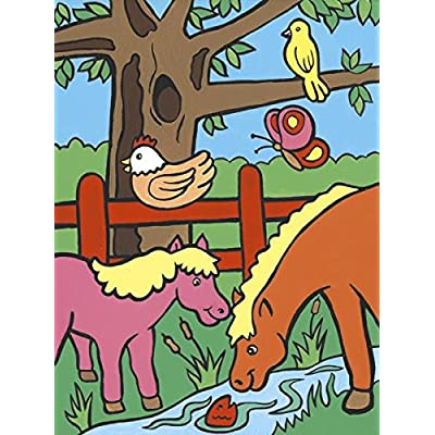 ROYAL BRUSH MFP-8 My First Paint by Number Kit, 8.75 by 11.375-Inch, Farm Animals: Arts, Crafts & Sewing [5Bkhe0801460]