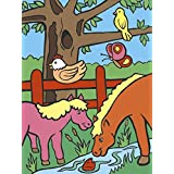 Royal Brush My First Paint by Number Kit, 8.75 by 11.375-Inch, Farm Animals