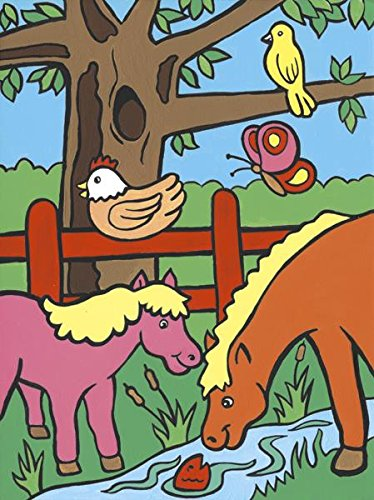 Royal Brush MFP-8 My First Paint by Number Kit, 8.75 by 11.375-Inch, Farm Animals