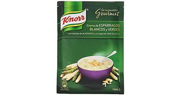 Knorr Crema Deshidratada Gourmet de Espárragos Blancos y Verdes - 49 gr: Amazon.es: Alimentación y bebidas