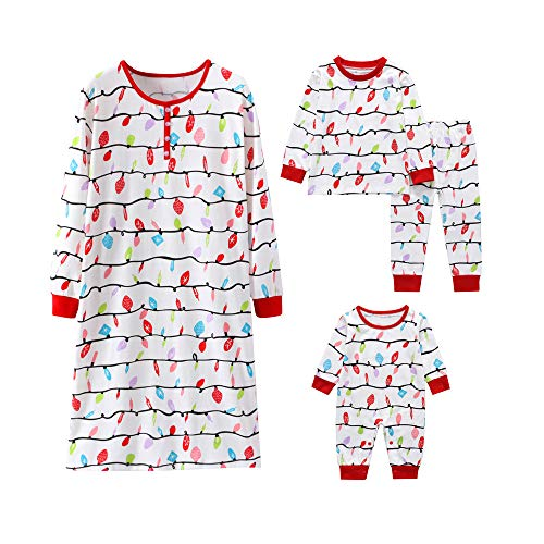 Joint Christmas Family Matching Sleepwear Knit Holiday Infant Baby Kids Womens Mix and Match Pajamas PJs Collection (6-12 Months, Infant's) (Collection Cuddly Knit)