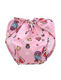Fenteer Baby Diapers Training Pants Newborn Waterproof Swimming Reusable Washable Pool Cover - Pink(12.5-16.5KG), as described