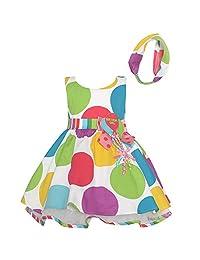 Bonnie Jean Baby Girls Multi Color Polka Dots Balloon Birthday Dress 12-24M