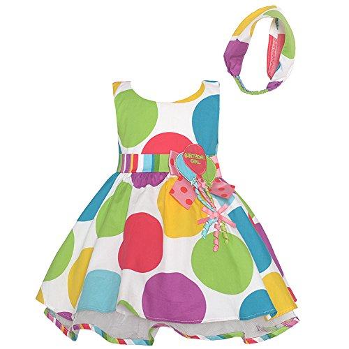 Bonnie Jean Baby Girls Multi Color Polka Dots Balloon Birthday Dress 24M