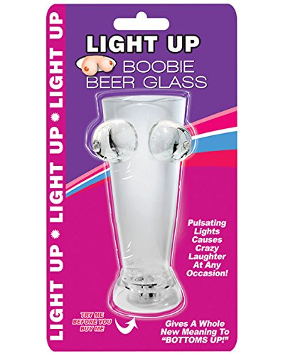 6 Ounce Hott Products Boobie Beer Glass Light Up Clear
