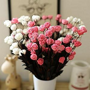 15 Heads Artificial Spring Silk Flowers Camellia Magnolia Floral Wedding Peony Arrangement Bouquet Hydrangea (5 Pcs) 4