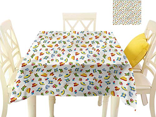 WilliamsDecor Dining Table Cover Boys Room,Baby Nursery Icon Design Table Cloth Cover W 50