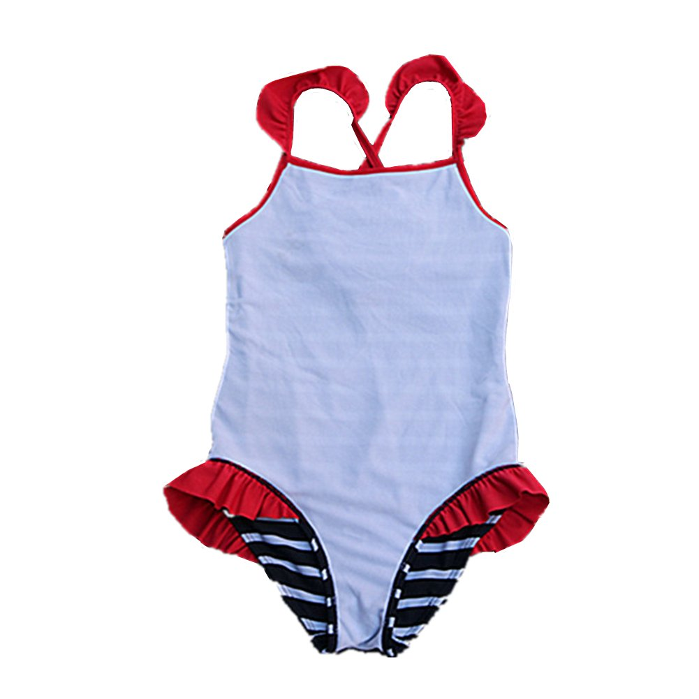 Toddler Baby Girl Swimsuit One Piece Swimsuit for Kid Girls Striped Bathing Suit Swimwear 2-6t