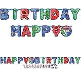 Amscan PJ Masks Happy Birthday Add-an-Age Letter